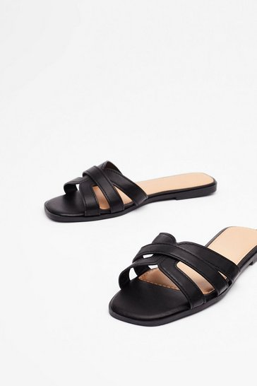 Black Strappy for Ya Flat Sandals