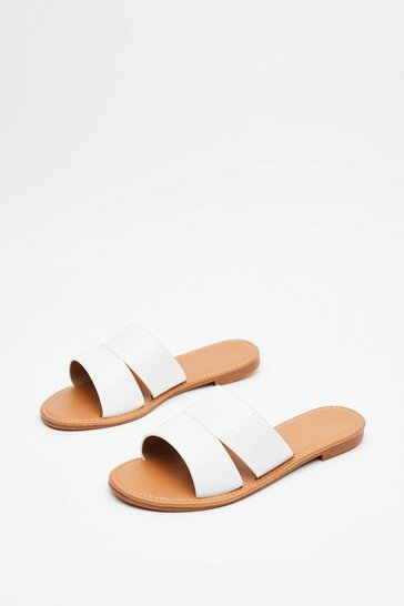 White Workin' Flat Out Mule Sandals