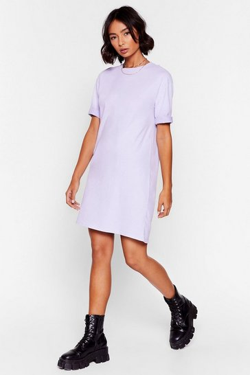 Lilac Won't Wash With Me Oversized Tee Dress
