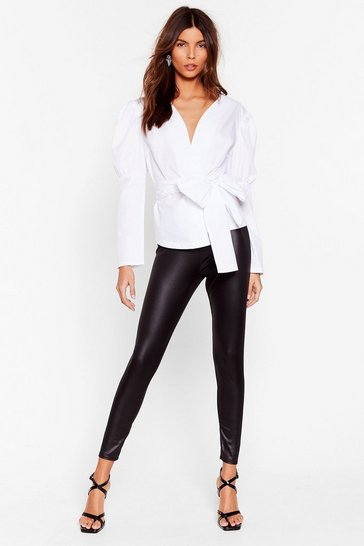 Black Wet's It to You High-Waisted Leggings