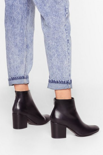 Black Block the Sound Faux Leather Heeled Boots