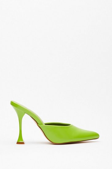 Chartreuse You've Made Your Point Stiletto Heels