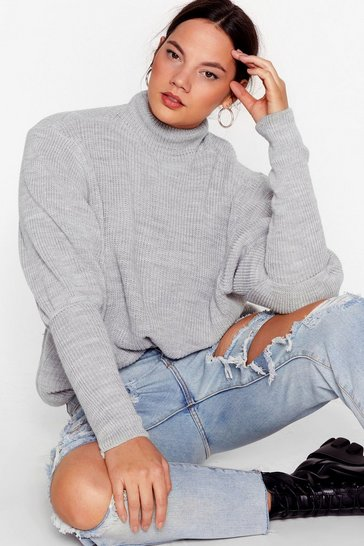 Grey Padded Shoulder and Wiser Plus Sweater