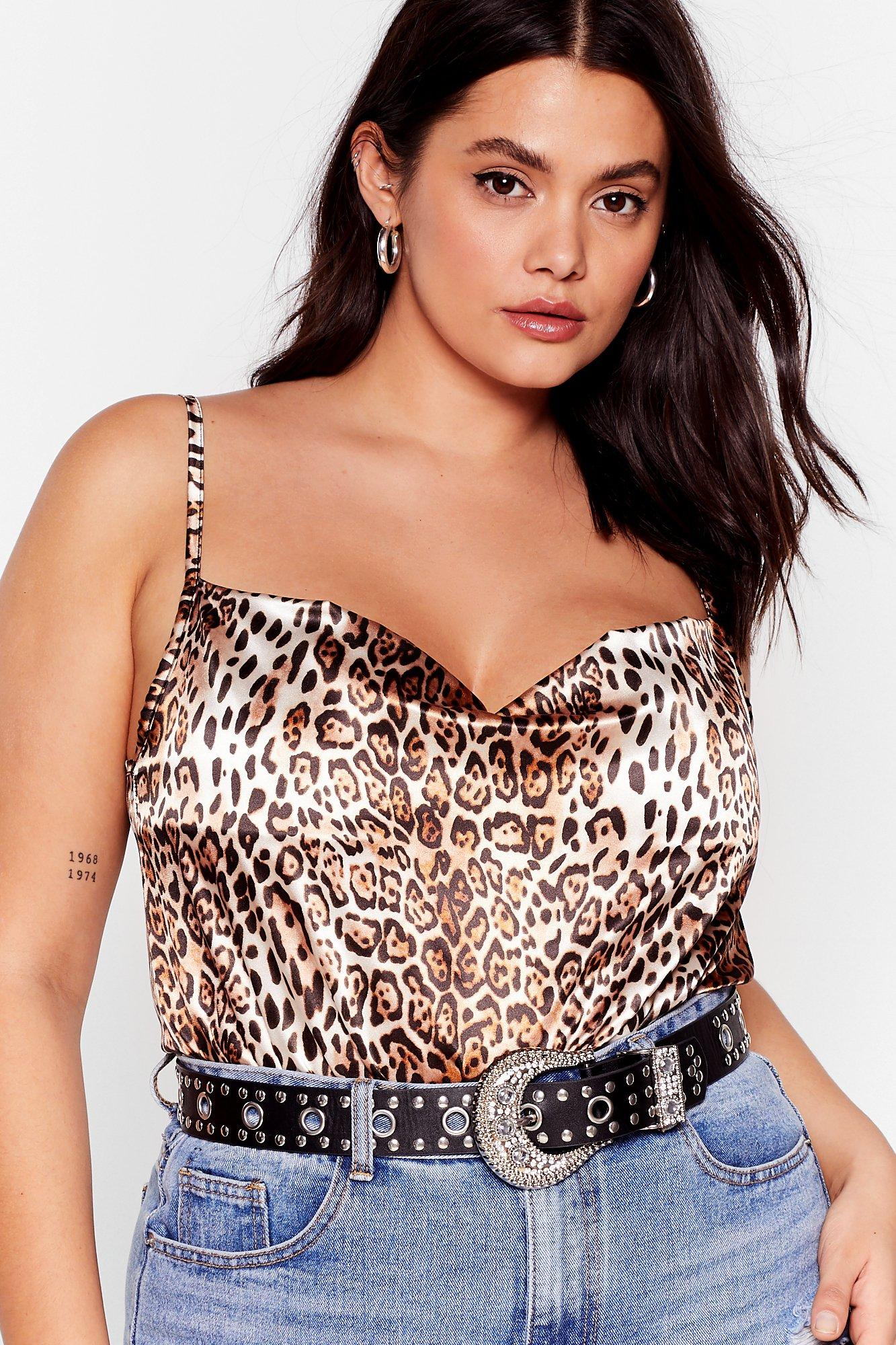 Always Wanting Roar Satin Leopard Bodysuit 9