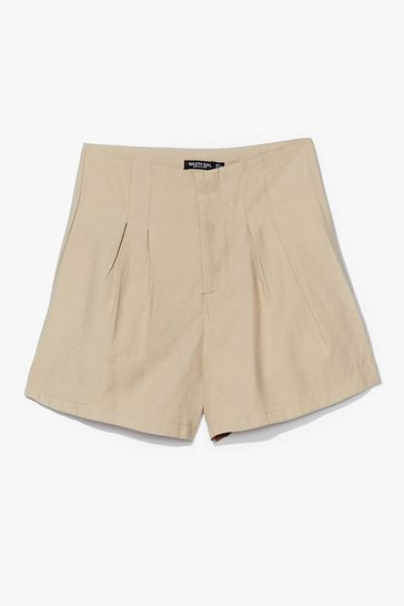 Sage Save a Pleat for Me High-Waisted Shorts