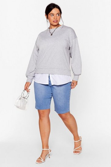Grey Chill Next Time Plus Relaxed Sweatshirt