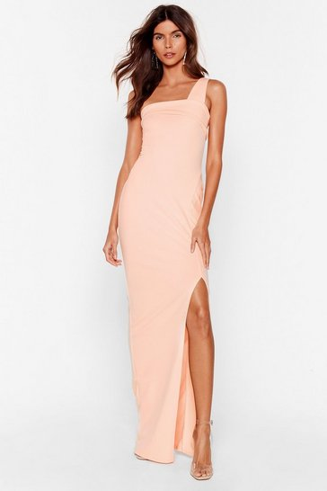 Blush My Plus One Shoulder Maxi Dress