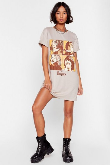 Sand  The Beatles Graphic Band Tee Dress