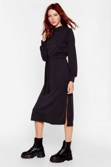 Black Tee BT Midi Sweater Dress