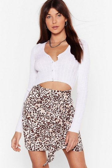 Cream Well Naturally Animal Mini Skirt