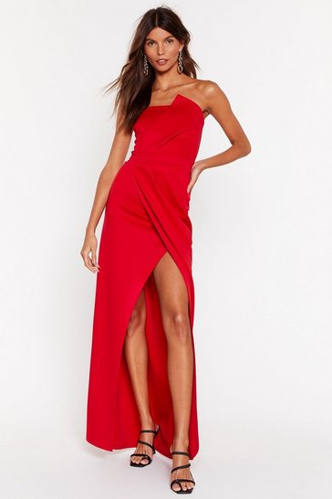 Red A Night To Remeber Strapless Maxi Dress