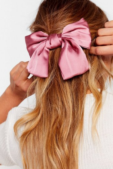 Pink Bow Your Own Way Satin Hair Clip