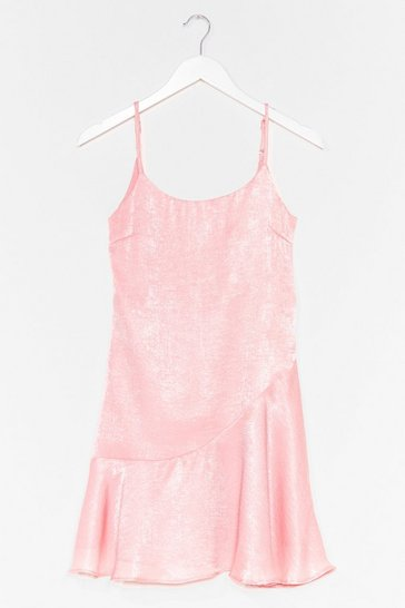 Pale pink So Vain Satin Cami Dress
