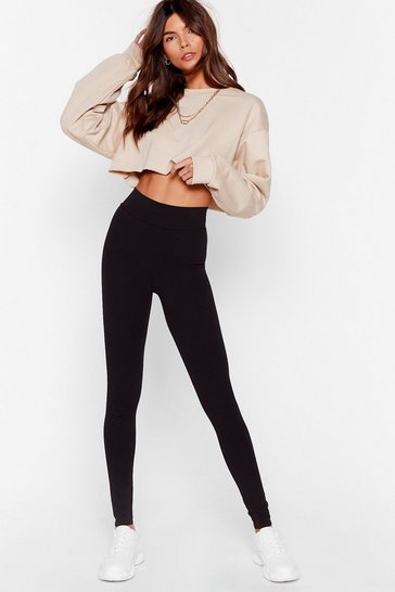 Black Hold Tight High-Waisted Leggings