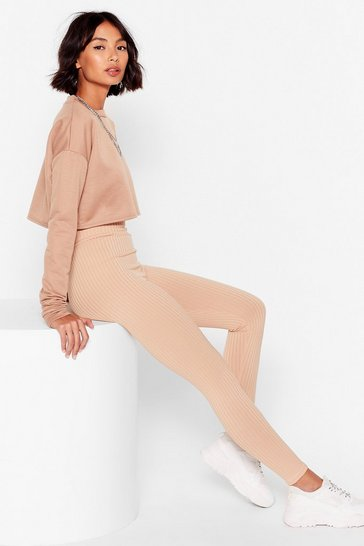 Stone Call Rib Even High-Waisted Leggings