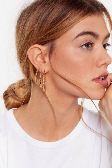 Gold Go Four It 4-Pc Hoop Earring Set