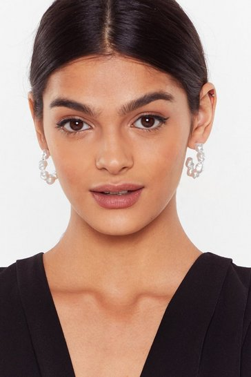 Gold Ain't Nobody's Pearl 3-Pc Hoop Earring Set
