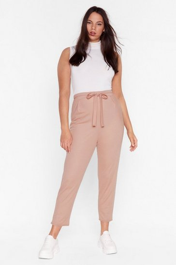 Mauve Sooner or Tapered Plus Belted Pants