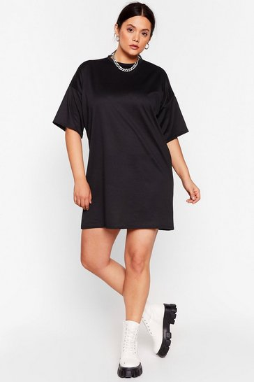 Black Easy Breezy Plus Tee Dress