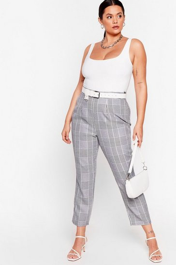 Black Handle the Houndstooth Plus High-Waisted Pants