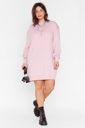 Rose Party At Home Plus Sweatshirt Dress