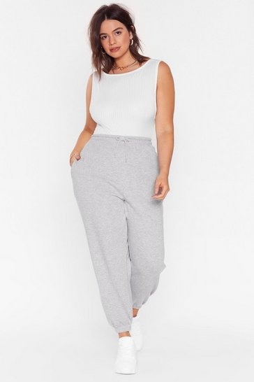 Grey marl Sweat It Out Plus Oversized Joggers