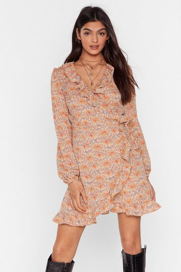 Stone Slink It Over Floral Mini Dress