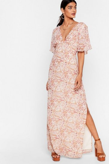 Stone Plant Get Enough of You Floral Maxi Dress