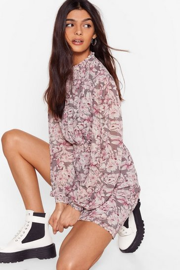 Grey Ain't Grow Doubt About It Floral Mini Dress
