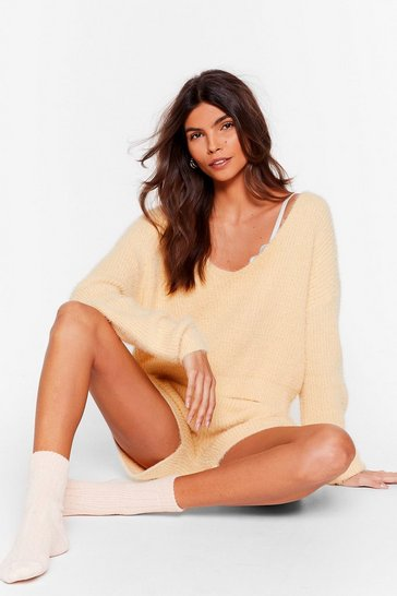 Lemon Get a Luxe in Fluffy Knit Shorts Lounge Set