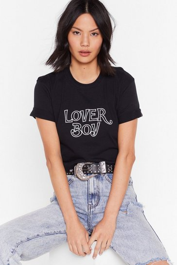 Black Come Here Lover Boy Graphic Tee