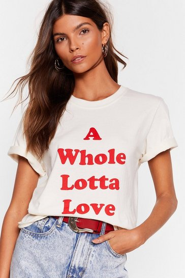 Natural A Whole Lotta Love Graphic Tee