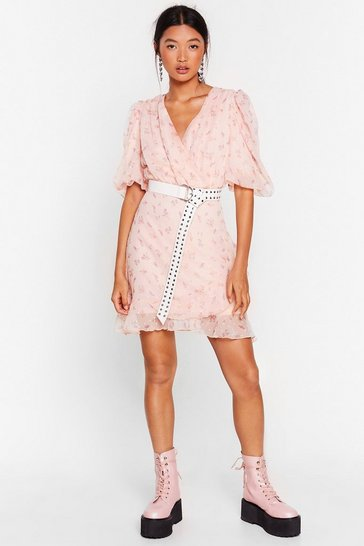 Baby pink Hey There Bud Floral Mini Dress