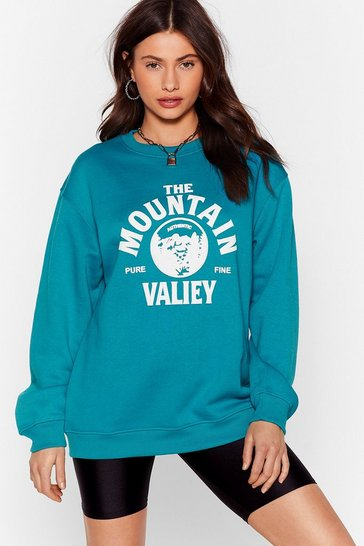 Bottle green Mountain Valley Oversized Sweatshirt