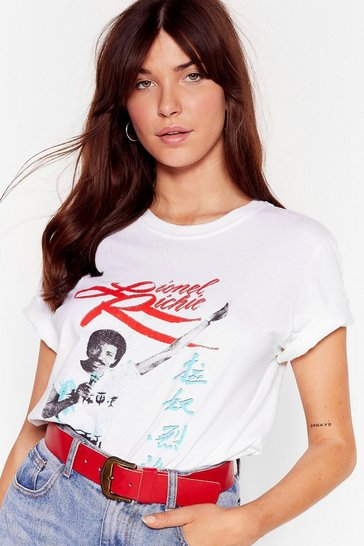 White Dancing On the Ceiling Lionel Richie Graphic Tee