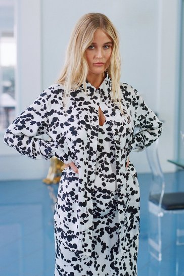 White  Just Cow We Like It Oversized Button-Down Shirt