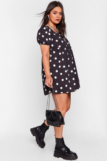 Black What You Dot to Say Plus Mini Dress