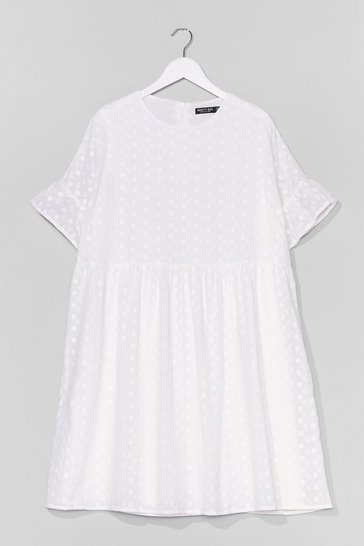 White Plus Broiderie Anglais Smock Dress