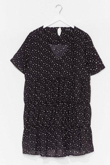 Black Baby You're a Super Star Plus Mini Dress