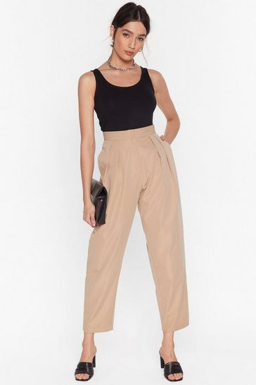 Beige Dart As You Mean to Go On Tapered Pants