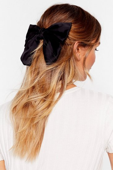 Black Oversized Bow Hair Clip