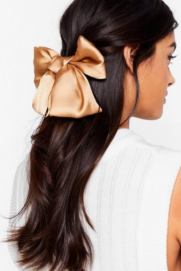 Camel Gotta Long Way to Bow Hair Clip