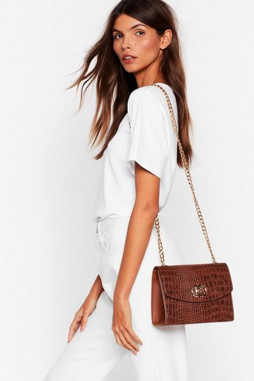 Tan WANT Tic Croc Multiway Crossbody Bag