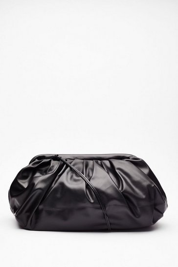 Black WANT Can You Slouch for 'Em Faux Leather Bag