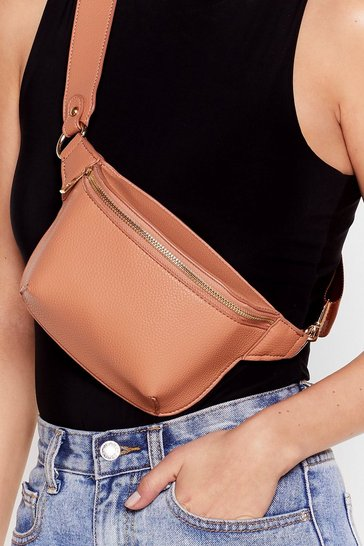 Nude WANT Drop Zip Low Faux Leather Fanny Pack