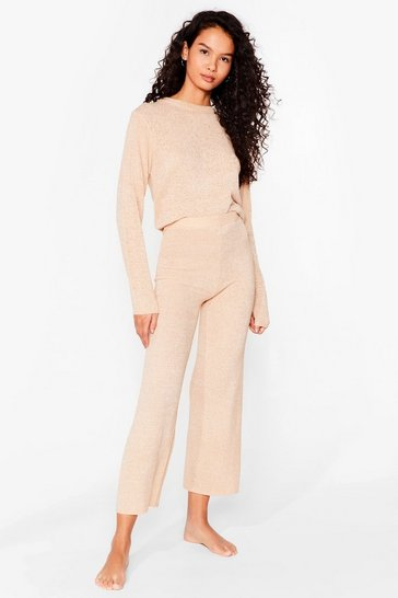 Oatmeal Knit's Who We Are Culotte Lounge Set