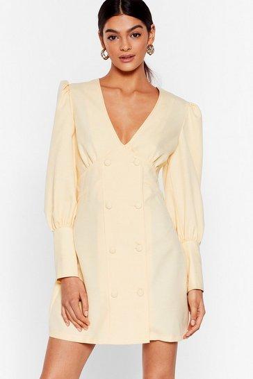 Lemon Go Work to Do Mini Blazer Dress