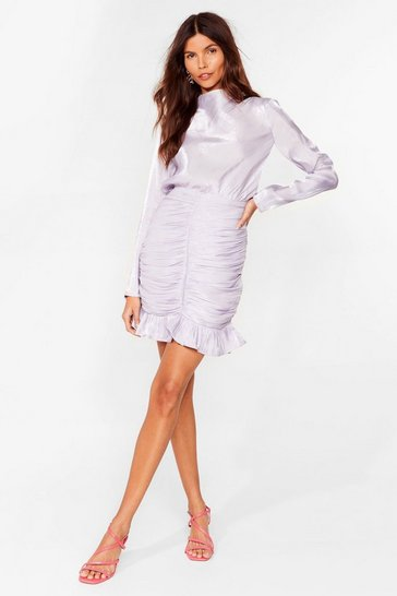 Lilac Time to Dance Shimmer Mini Dress