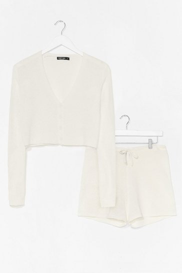 Cream Knit's the Weekend Shorts Lounge Set