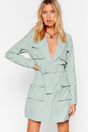 Mint Belt So Good Corduroy Mini Dress